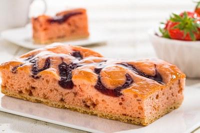 Aardbeien Plaatcake met Fruitful Strawberry