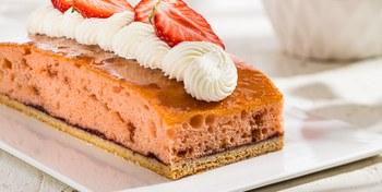 Aardbeien Plaatcake