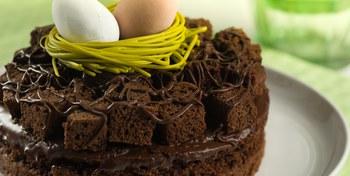 American Brownie Easter Pie