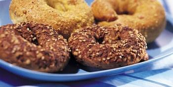 BBQ-bagels/Olympische ringen met Fiesta Picante