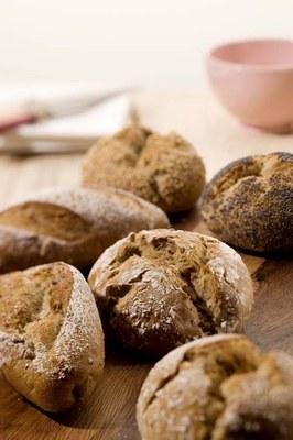 Krokante broodjes met Panomix Roggopan